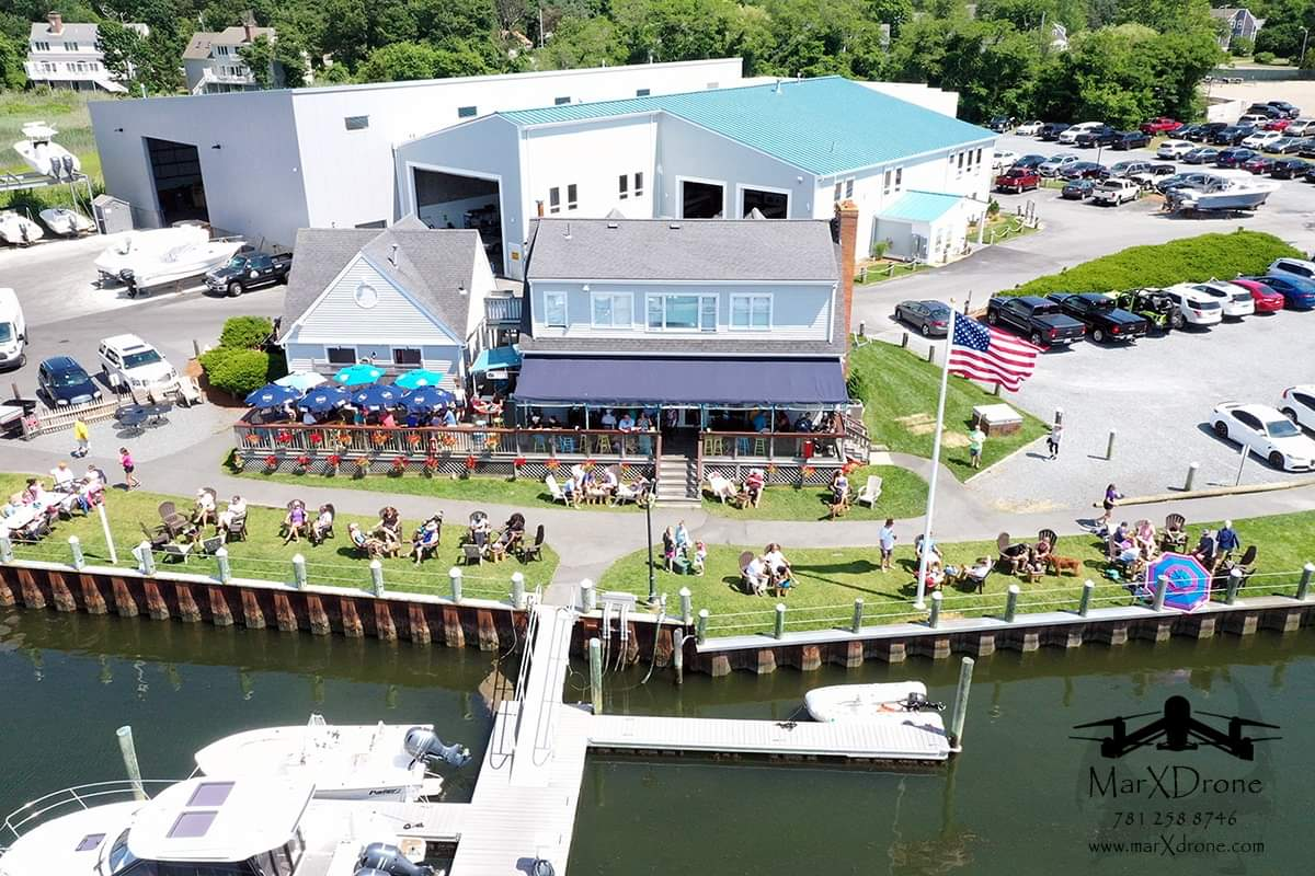 marina overhead drone shot