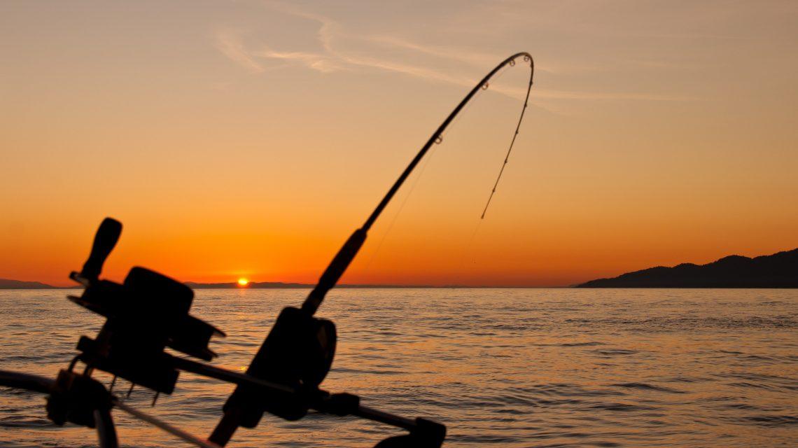fishing sunset Bass River Marina